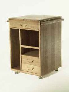 meuble desserte de rangement pour artiste ch ne teint cir roulettes. Black Bedroom Furniture Sets. Home Design Ideas